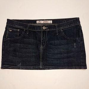 Hollister   Dark Wash Denim Jean Mini Skirt - 7